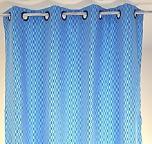 Linder Polyester Eyelet Curtain with 8Blue,
