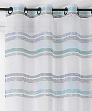 Linder Polyester Net Curtain, Blue, 140x255
