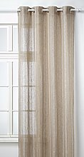 Linder Raye Linen Eyelet Curtain Beige Naturel