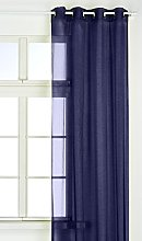 Linder Venus 0261/45/375PR Orion Navy Net Curtain