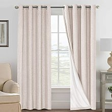 Linen Blackout Curtains 108 Inches Long 100%
