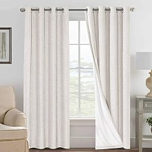 Linen Blackout Curtains 84 Inches Long 100%