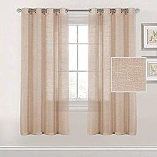 Linen Blended Curtains for Living Room/Bedroom