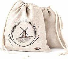 Linen Bread Bags - 2-Pack 30 x 40 cm Special Art