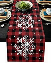 Linen Burlap Table Runner Christmas Dresser Scarf