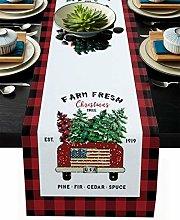 Linen Burlap Table Runner Christmas Tree Dresser