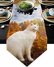Linen Burlap Table Runner Dresser Scarves, Cute