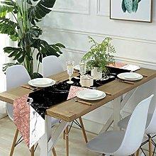 Linen Burlap Table Runner Dresser Scarves,Rose