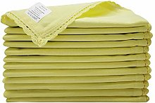Linen Clubs 12 Pack Cotton Dinner Napkins With