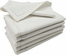 Linen Clubs 12Pack Slub Duck Dinner napkins with