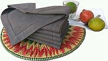Linen Clubs 6pk slub cotton dinner napkins with