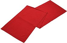 Linen Clubs Slub Cotton Hemstitched Table Runner -