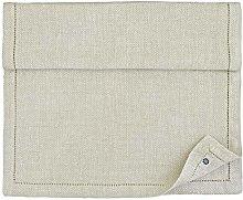 Linen & Cotton Luxury Hemstitched Herringbone