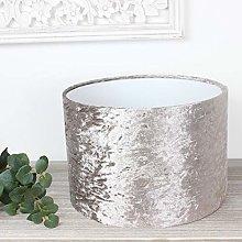 Linen Crushed Velvet Drum Lampshade (30 cm