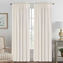 Linen Curtains Light Filtering Privacy Protecting