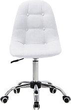 Linen Fabric Armless Office Chair Height