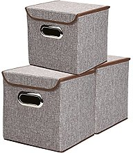 Linen Fabric Foldable Storage Cubes Bin Box