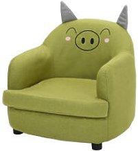 Linen Fabric Kids Children Armchair Cartoon Sofa