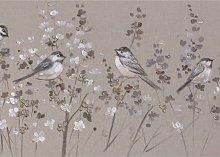 Linen Floral - Canvas Print, 50 x 150cm,