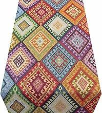 Linen Loft Multicoloured Turkish Kilim Table