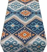 Linen Loft Navajo Kilim Style Table Runner. Teal