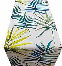 Linen Loft Palm Leaves Table Runner. Modern Exotic