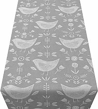 Linen Loft Scandinavian Birds Table Runner. Modern