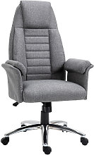 Linen-look Ergonomic Stylish Padded Office Chair