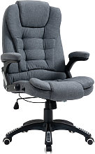Linen-Look Extra Padded Office Chair Work Seat