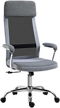 Linen-Look Office Chair Mesh Fabric High Back