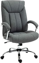 Linen-Look Padded Swivel Task Office Chair Home