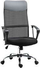 Linen & Mesh Mix Swivel Office Chair Ergonomic