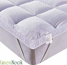 Linen Nook King Microfibre Mattress Topper Down