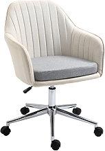 Linen Office Chair Ergonomic Work Seat Home Study