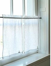 Linen panel curtain, bistro curtain made of linen,