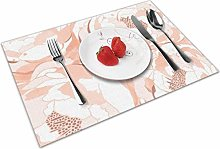 Linen Peony Flower Insulation Heat Resistant Table