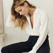 Linen Relaxed Shirt, White, 12