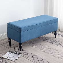 Linen Storage Stool Seat Bench, Blue