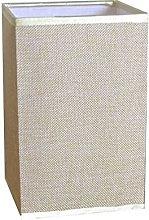 Linen Straight Square Linen Bedside Lamp