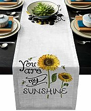 Linen Table Runner for Dining Table,You are My
