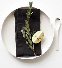 Linen Tales - Linen Napkins Set of 2 Black
