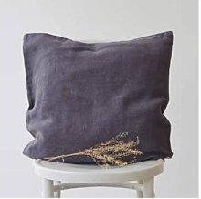 Linen Tales - Pillowcase 100% Linen - Dark Grey,