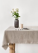 Linen Tales - Tablecloth natural with fringes -