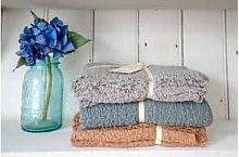 Linen Tales - Waffle Linen Baby Blanket - Blue Grey