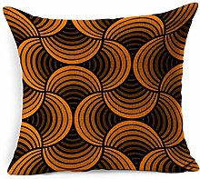 Linen Throw Pillow Cover Square Abstract Spice