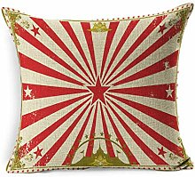 Linen Throw Pillow Cover Square Cabaret Carnival