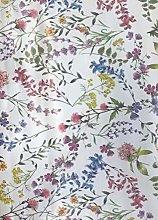 linen702 Floral Effect Vinyl Tablecloth   Suitable