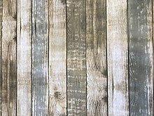 linen702 Rustic Wood Effect Vinyl Tablecloth  