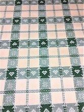 LINEN702 Vinyl pvc Tablecloth Green Check with
