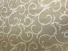 linen702 Vinyl Pvc Tablecloth, Light Brown/Beige